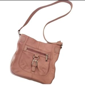 Stone & Co pink Crossbody leather bag